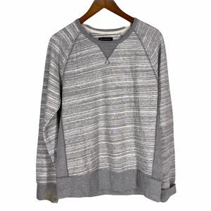 Banana Republic Gray Stripe 60/40 Sweatshirt
